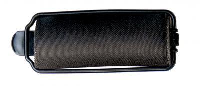Diane - Rouleaux éponges en satin 7/8'' noirs 10/paquet
