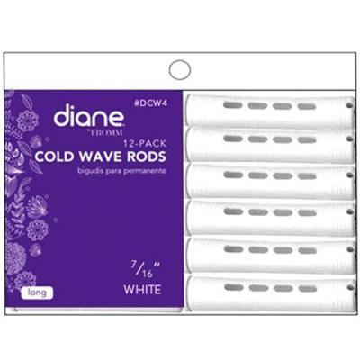 """Diane - Bigoudis à permanentes blanc 7/16"""" 12/paquet"""