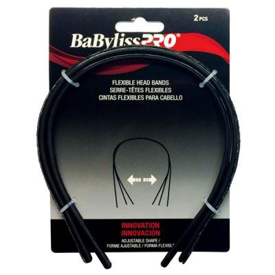 Babyliss Pro - Flexibles head bands black 2/pack