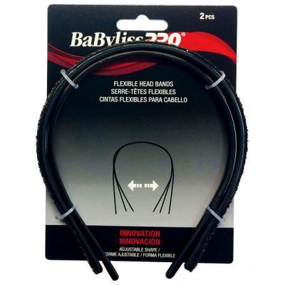 Babyliss Pro - Serre-têtes flexibles or & noir 2/paquet