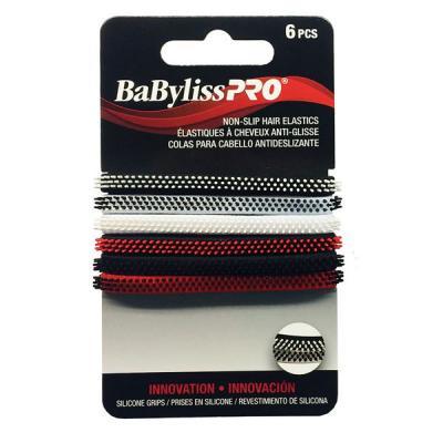 Babyliss Pro - Non-slip hair elastics 6/pack
