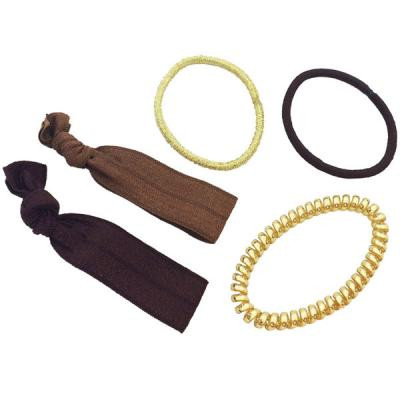 Babyliss Pro - Hair ties brown & gold 5/pack