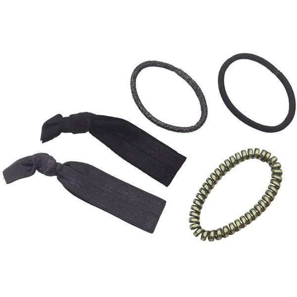 Babyliss Pro - Hair ties black & silver 5/pack