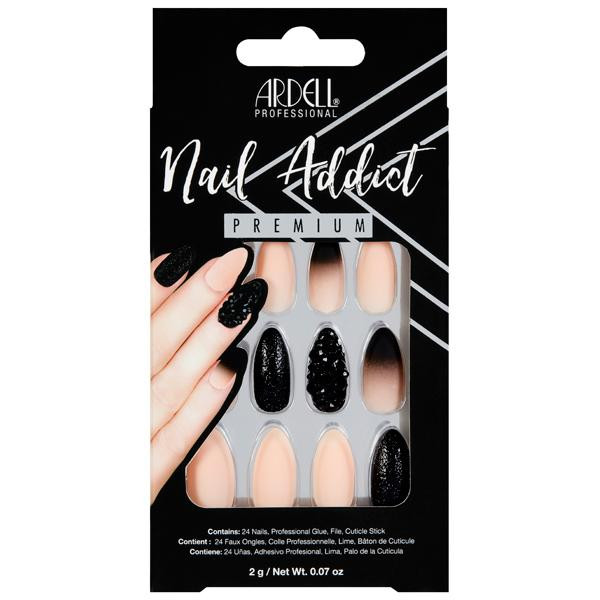 Ardell - Nail Addict Black Stud and Pink Ombre