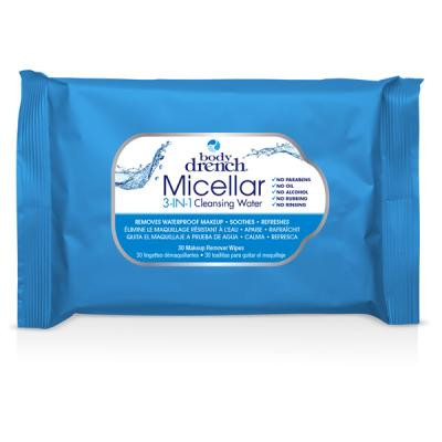 Body Drench - Micellar 3-en-1 Makeup remover wipes 30 units